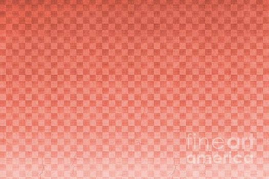 Pantone Living Coral Ombre Gradient - Checker Board - Gingham - Square Pattern by Melissa Fague