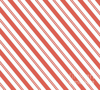 Pantone Living Coral Thick and Thin Angled Lines - Stripes by Melissa Fague