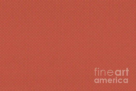 Pantone Living Coral Tiny Polka Dots Symmetrical Pattern Solid Color by Melissa Fague