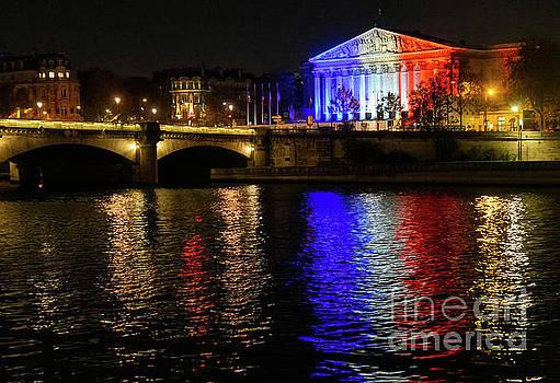 Wayne Moran - Paris Evening Reflections on the Seine River