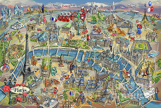 Maria Rabinky - Paris Illustrated Map