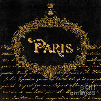 Tina Lavoie - Paris In Gold French Typography art
