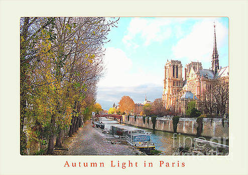 Paris Notre Dame Autumn Poster Beige by Felipe Adan Lerma