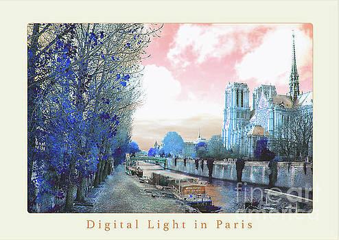 Paris Notre Dame Digital Color Poster by Felipe Adan Lerma