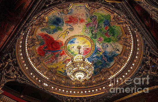 Paris Opera House Marc Chagall Ceiling by Mike Reid