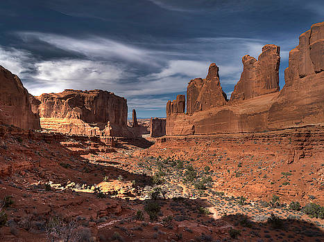 Park Avenue Overlook-Arches National Park, UT by Mark Langford