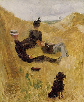 Party in the Country - 1882 - PC - Painting - oil on canvas by Henri de Toulouse-Lautrec