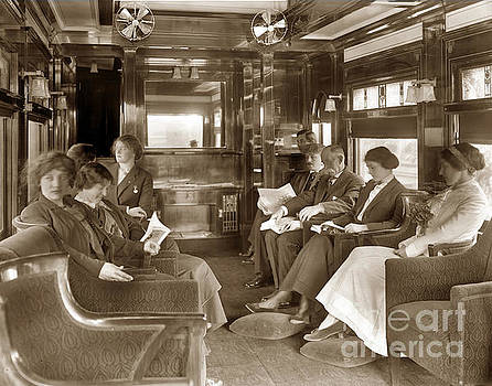 California Views Archives Mr Pat Hathaway Archives - Passengers in the Lounge car on thr Santa Fe  de Luxe Train 1912
