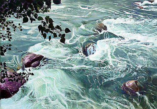 Passirio river In Meran by Robert Keseru