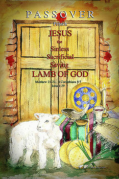 Passover - Jesus - Lamb of God by Janis Lee Colon