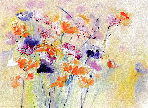 Pastel Acrylic Spring Floral by Lisa Kaiser