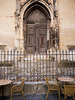 Patio in Front of the Cathedral by Rae Tucker
