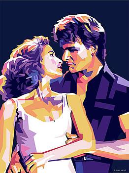 Patrick Swayze and Jennifer Grey by