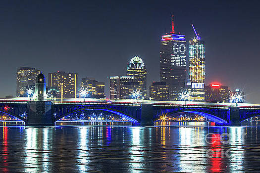 Patriot's Boston Super Bowl Skyline by Ryan McKee