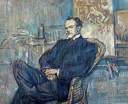 Paul Leclercq - 1897 - Musee d Orsay - Paris - Painting - oil on cardboard by Henri de Toulouse-Lautrec