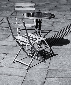 Pavement Table And Chairs Monochrome by Jeff Townsend