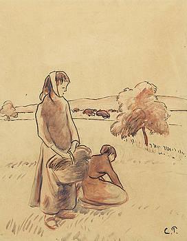 Camille Pissarro - Paysannes a L
