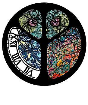 Peace Sign Tree Owl Colorful Design by Swigalicious Art