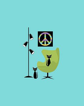 Peace Symbol Phone Case by Donna Mibus