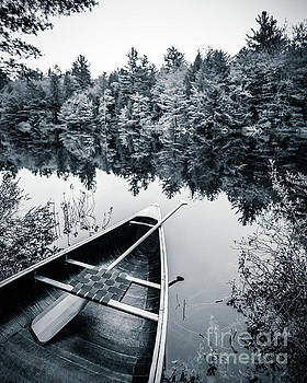 Peaceful Lakeside Canoe by Edward Fielding