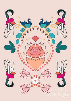 Peacock Pair design by Artist Nandika Dutt