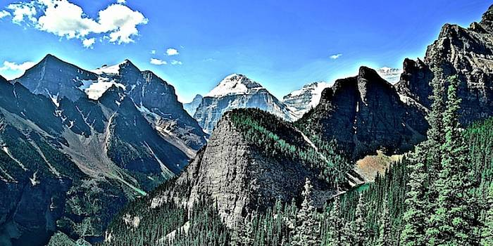 Frozen in Time Fine Art Photography - Peaks and Valleys in Banff