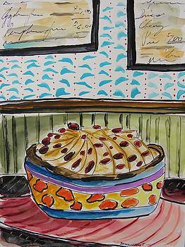 Pear and Dried Cherries Pie by John Williams