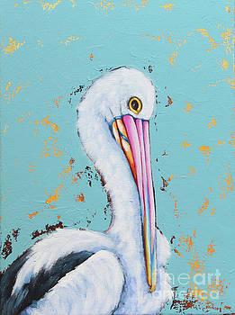 Pelican by Lucia Stewart