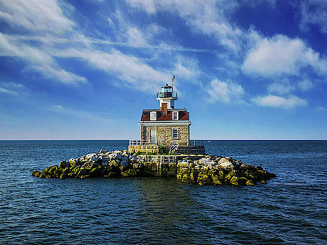 Penfield Reef Lighthouse Frontal by Stephanie McDowell