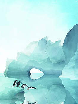 Penguins by day by Goed Blauw
