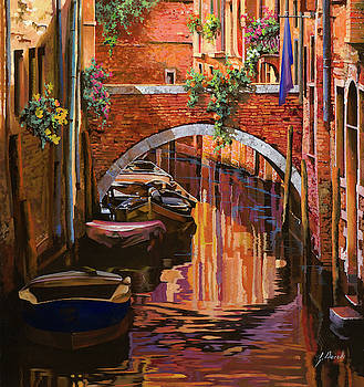 pennellate viola a Venezia by Guido Borelli