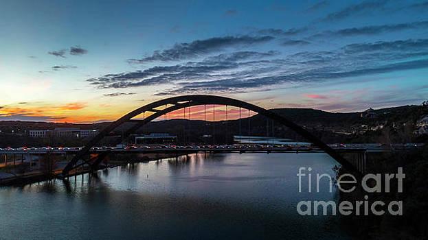 Herronstock Prints - Pennybacker Bridge the 360 Bridge, during a colorful drivetime