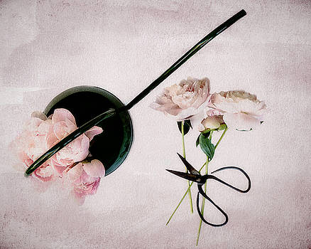 Peonies and Watering Can by Rebecca Cozart