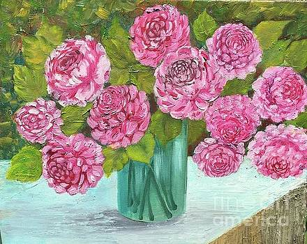 Peonies by Vandana Dayal