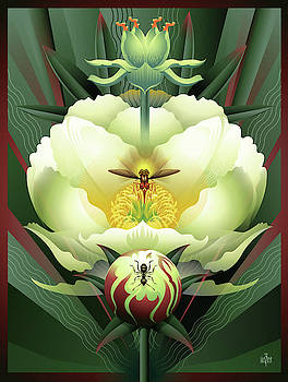 Peony White Glory by Garth Glazier