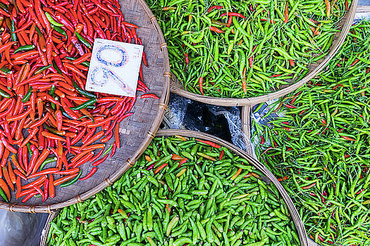 Peppers at the Market by Nicole Young