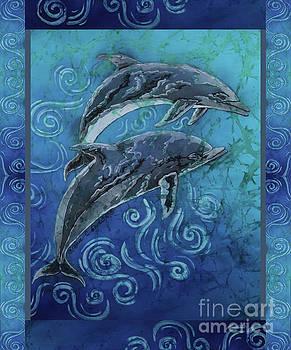 Sue Duda - Perfect Pair - Porpoise Vertical Bordered