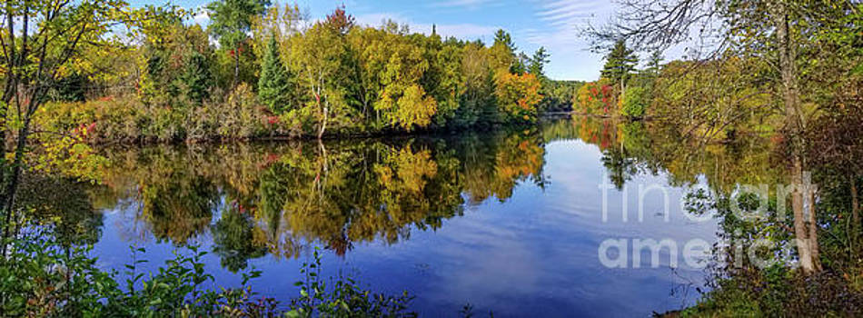 Peshtigo River early fall by Randy Kostichka