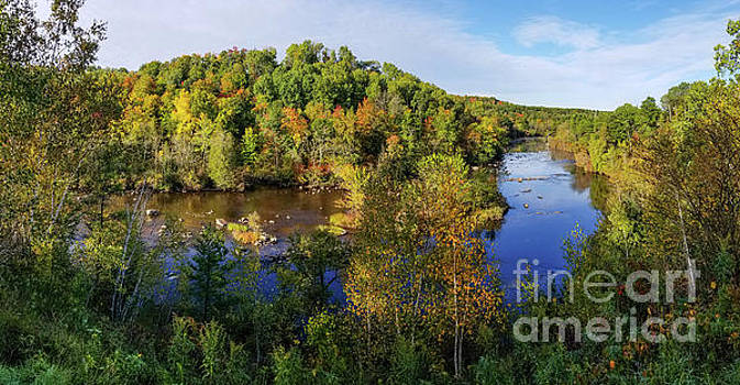 Peshtigo River up high by Randy Kostichka