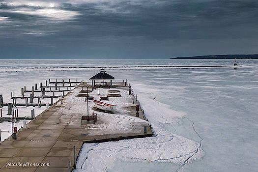 Petoskey Marina - Winter by Laurent Fady