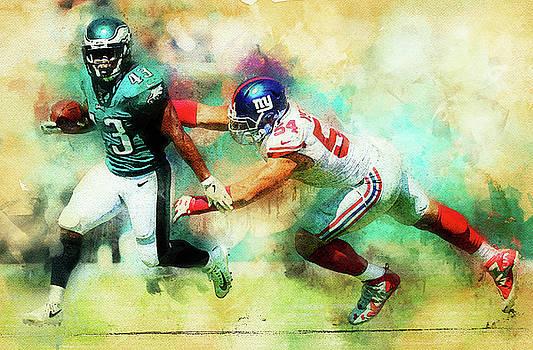 Philadelphia Eagles against New York Giants by Nadezhda Zhuravleva