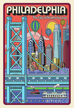 Philadelphia Poster - Pop Art - Travel by Jim Zahniser