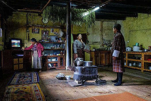Phobjikha Farmhouse, Bhutan by Ian Robert Knight