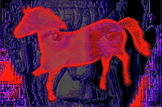 Picasso.  Red horse.  Andy Za by Andy Za