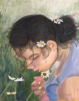 Picking Daisies by Marcia Hero