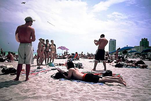 Picking Up Chicks At South Beach by Jeffrey PERKINS