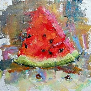 Piece of watermelon by Valerie Lazareva