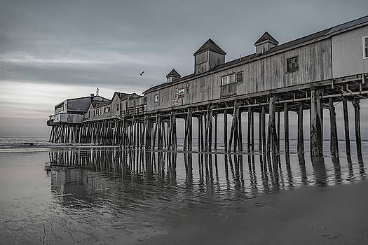 Pier at Dawn in Maine by Betsy Knapp
