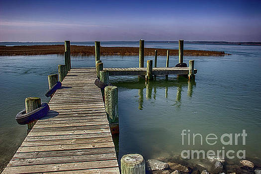 Pier Near Wallops Island by Tom Gari Gallery-Three-Photography