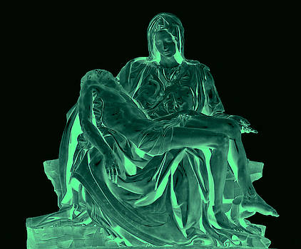 Pieta Mary and Jesus Glow by Tin Tran